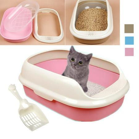 Cat Kitten Litter Tray Litter Pan Cat Toilet