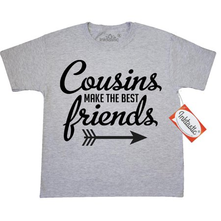 Inktastic Cousins Make The Best Friends With Arrow Youth T-Shirt Family Reunion Famile Picnic Unite Together Tee Kids Children Child Tween Clothing Apparel Teen