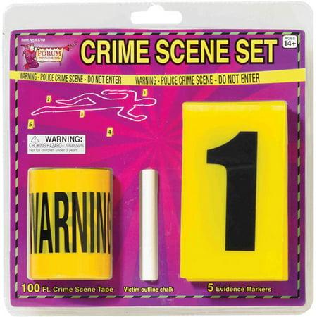 Crime Scene Set Halloween - Dj Scene Halloween