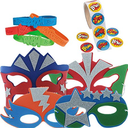 Super Hero Party Favor Supply Pack - Super Hero Supplies