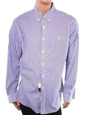 26f33397c Product Image Ralph Lauren NEW Blue Mens Size XL Button Down Striped Slim-Fit  Shirt