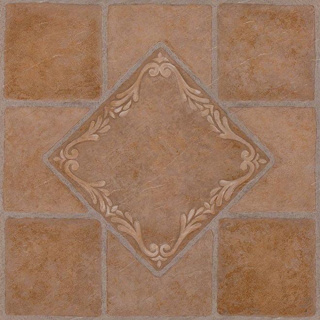 Achim Nexus South West Ceramic 12x12 Self Adhesive Vinyl Floor Tile 20 Tiles 20 sq. ft. by Achim Importing Co. Inc