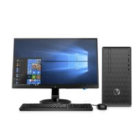 "HP Desktop and 23.8"" Monitor Bundle, AMD Ryzen 3 2200G, AMD Radeon Vega 8 Graphics, 8GB SDRAM, 1TB HDD, DVD, 590-p0103wb"