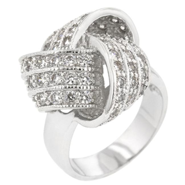Icon Bijoux R08107R-C01-10 Large Cz Knot Ring (Size: 10)