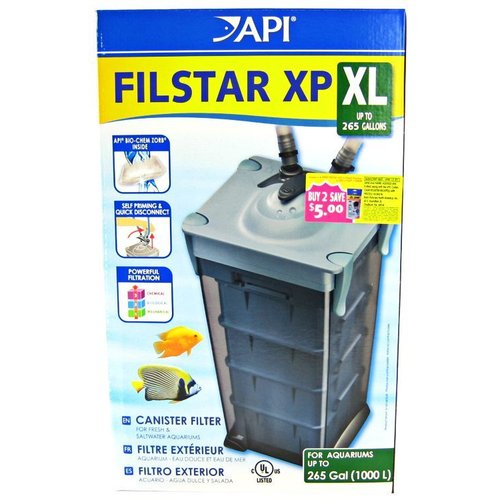 API Rena Filstar XP Canister Filter Filstar XP XL - Formerly Rena Filstar XP4 - (450 GPH - Up to 265 Gallons)
