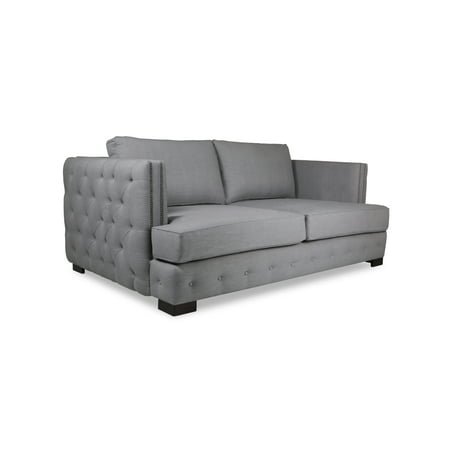Plush Deep Jousier Linen Tufted Sofa Grey