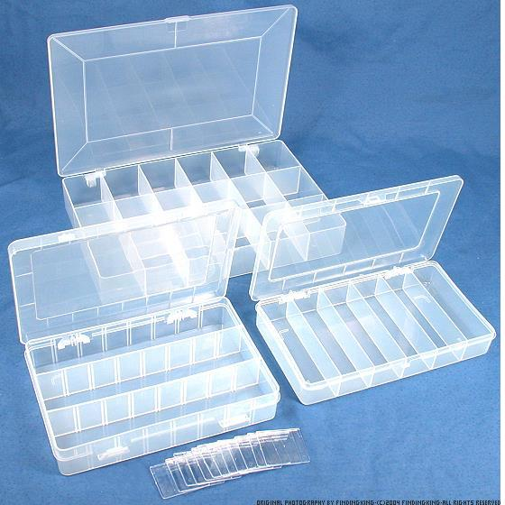 3 bead gemstone storage box plastic organizer trays