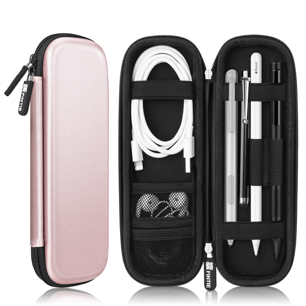 Holder Case for Samsung Stylus, Surface Go Pen, Wacom Creative Stylus - Fintie PU Leather Carrying Bag Sleeve, Rose Gold