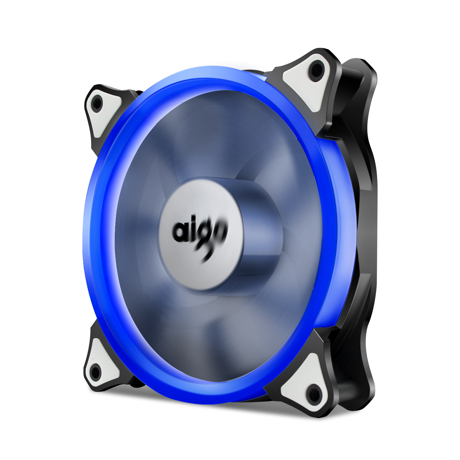 Aigo Halo Blue LED 120mm 12cm PC Computer Case Cooling Neon Fan Mod 4 Pin/3 Pin CPU Coolers and Radiators
