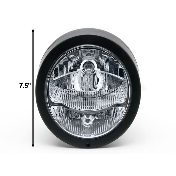 Motorcycle Custom Black Headlight Head Light For Harley Davidson Dyna Glide Wide Glide FXDWG FXWG - image 2 of 6