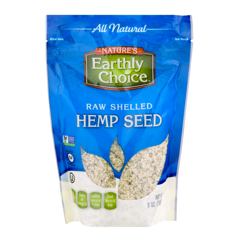 Nature's Earthly Choice Raw Shelled Hemp Seed, 8.0 OZ