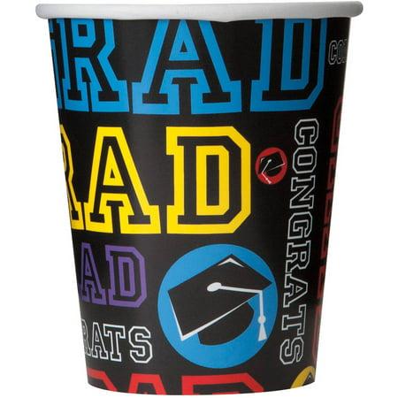 Graduation Cups (9oz Graduation Party Paper Cups,)