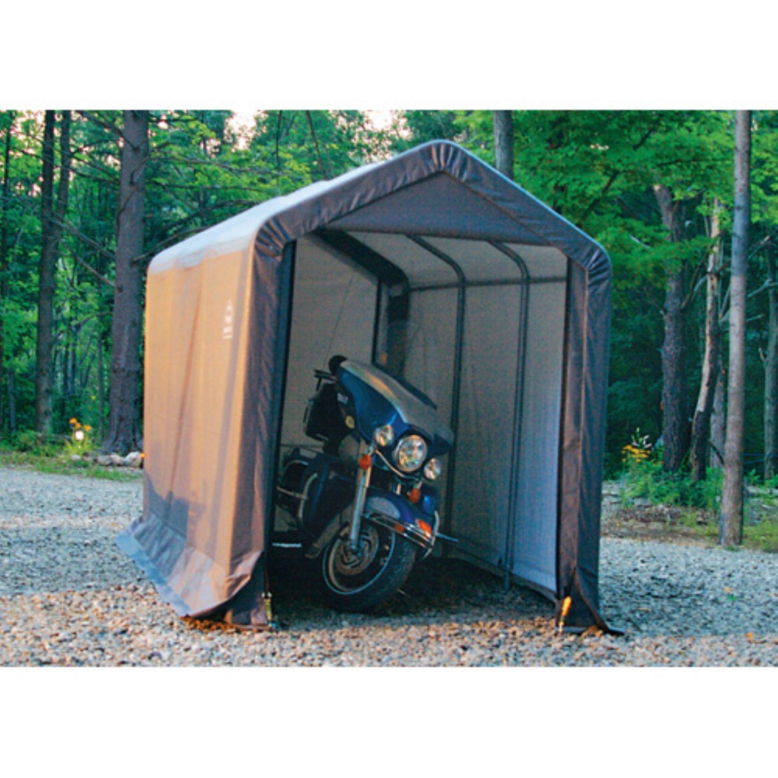 Shed-in-a-Box 6' x 12' x 8' Peak Style Storage Shed, Gray