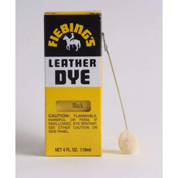Fiebings Leather Dye Black 4 oz Alcohol Based Penetrating Dries Uniform