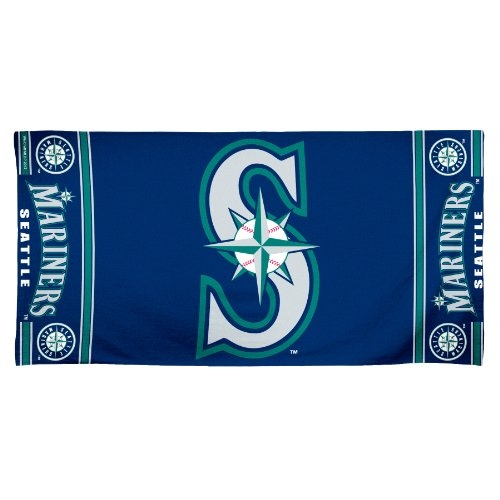 MLB Seattle Mariners 30 by 60 Fiber Reactive Beach Towel