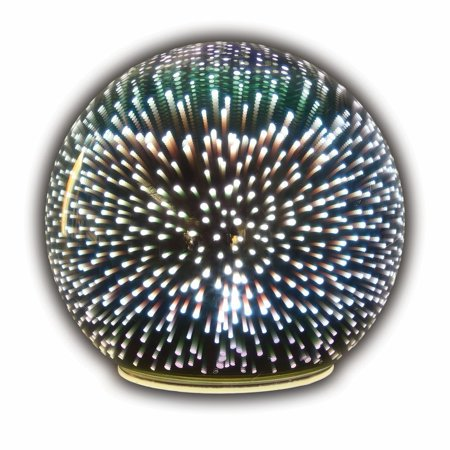 Sphere Accent Ball Lamp - Mercury Glass Starburst Ball LED Table