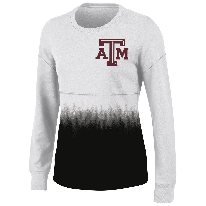 Women's White Texas A&M Aggies Oversized Fan Long Sleeve T-Shirt