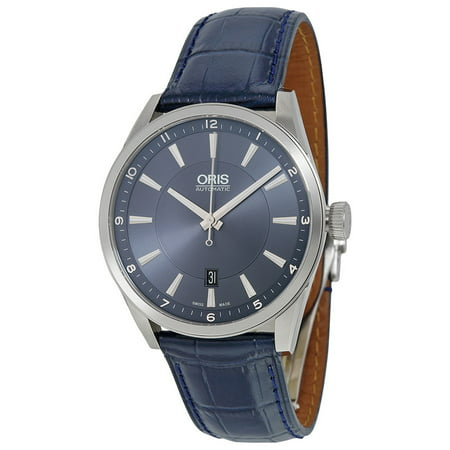 Oris Artix Blue Dial Leather Strap Men's Watch 73376424035LSBLU Blue Leather Strap Watch