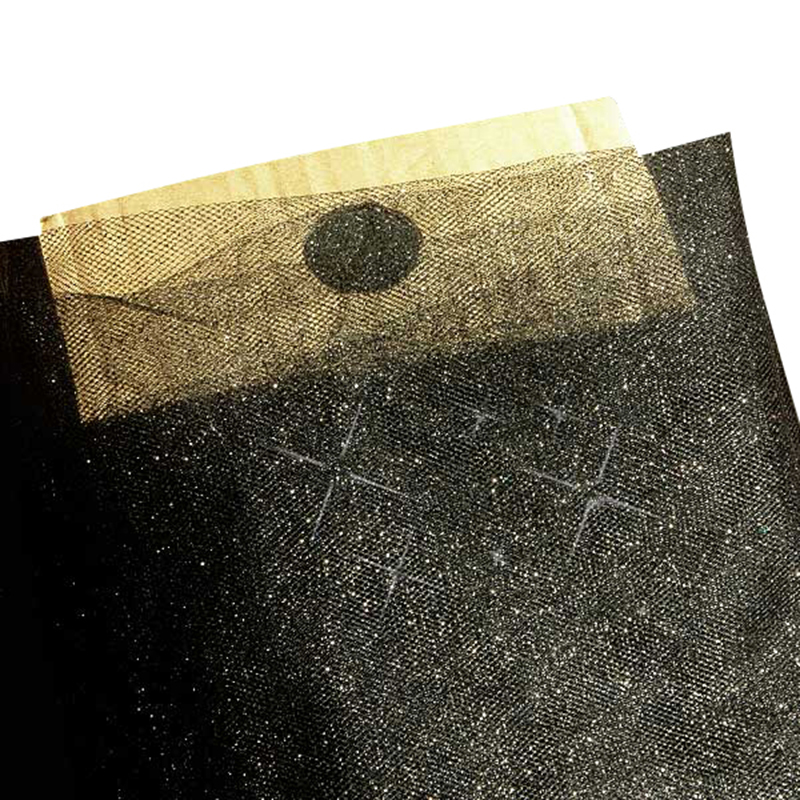 "Black Sparkling Tulle 54"" X 40 Yards by Paper Mart"