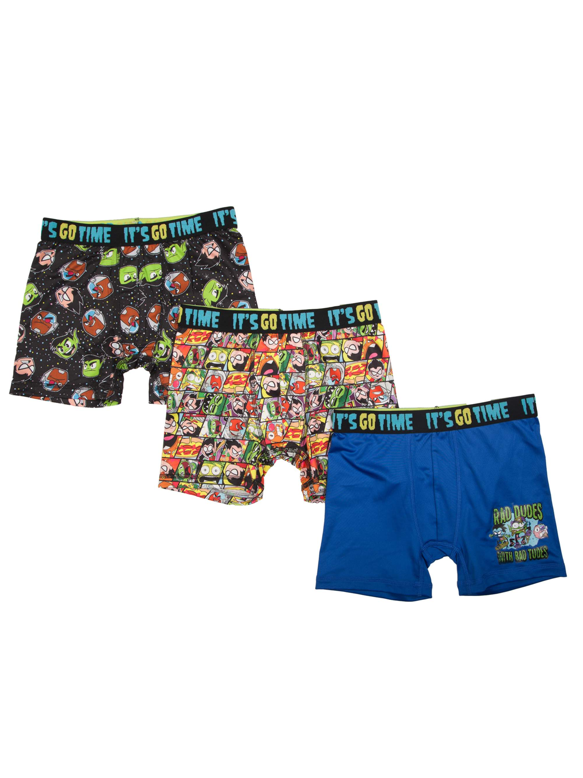 Teen Titans Boy's Poly Boxer Briefs, 3 Pack