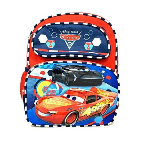 Small Backpack - Disney - Cars 3 - Lighting McQueen Checker Line 110512