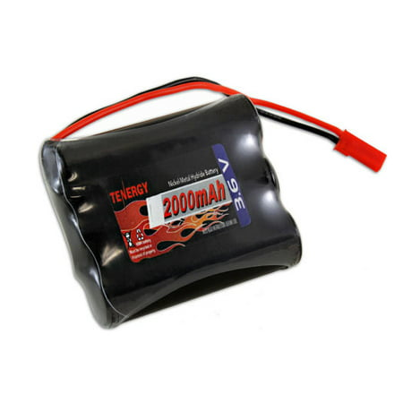 Tenergy 3.6V 2000mAh Side-by-Side Ready to Use NiMH Battery Packs w/ BEC Connector for RC airplanes, Walking robot etc. (Nimh Rc Battery)