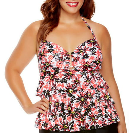 ef88ed30c19 Catalina - Collections by Catalina Women's Plus-Size Tiered Ruffle ...