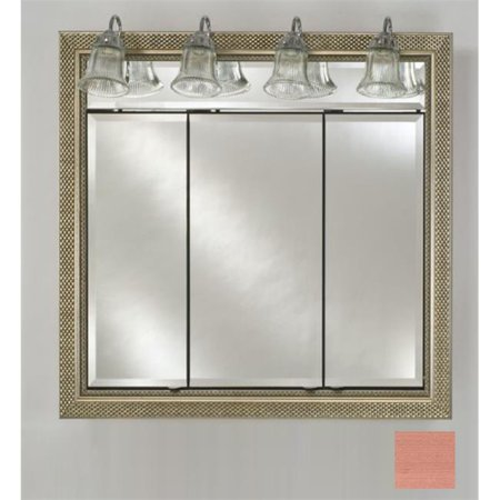 Afina Corporation TD-LT4434RSOHBZ 44 in.x 34 in.Recessed Triple Door Cabinet with Traditional Lights - Soho (Bronze Traditional Cabinet)