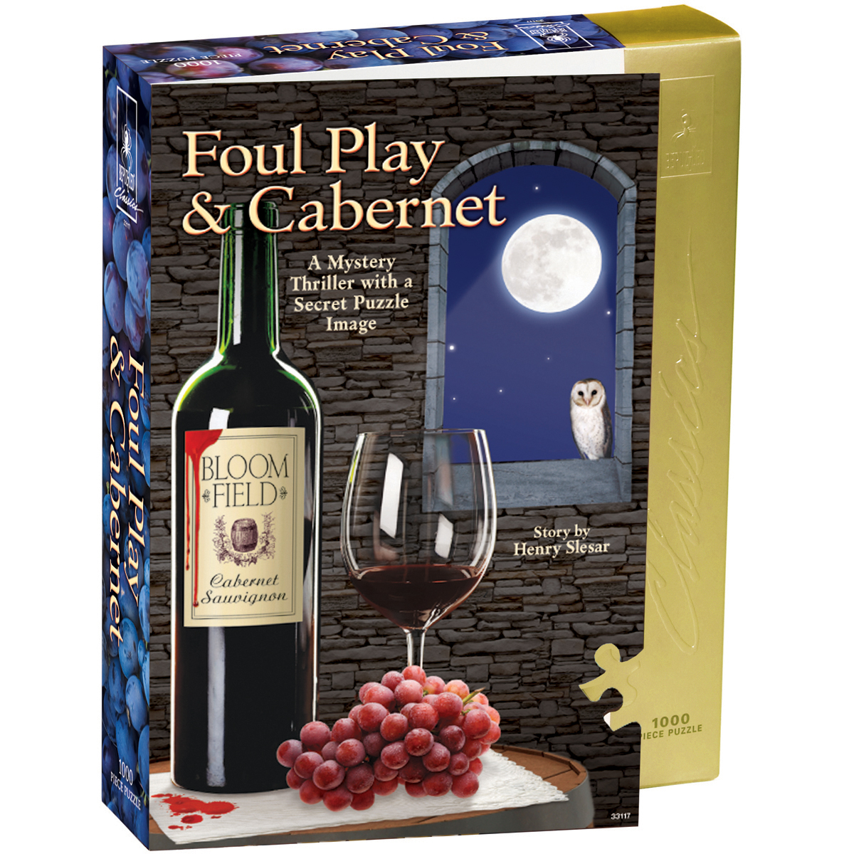 "Jigsaw Shaped Puzzle 1000 Pieces 23""X29""Foul Play & Cabernet"