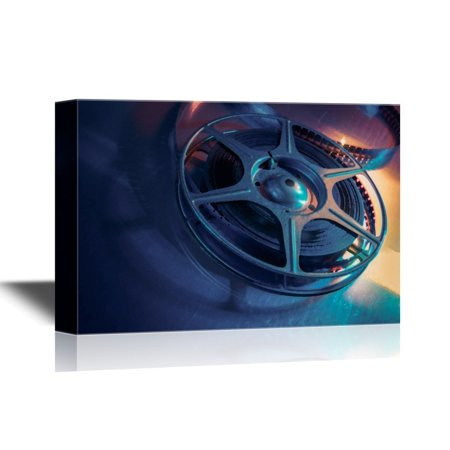 Arb Equipment (wall26 - Vintage Filming Equipment Canvas Wall Art - Classic Film Projector - Gallery Wrap Modern Home Decor   Ready to Hang - 24x36 inches )