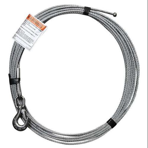OZ LIFTING PRODUCTS OZGAL.25-55B Cable, Galvanized Steel, Uncoated, 1200 lb.