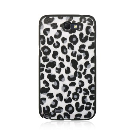 Leopard Note (DreamWireless Leopard Rubberized Hard Snap-in Case Cover For Samsung Galaxy Note II, Black/White )