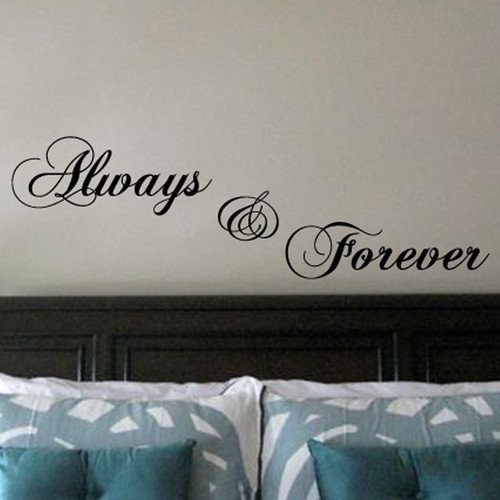 Fox Hill Trading Always and Forever Vinyl Wall Decal