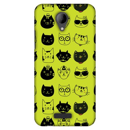 Micromax Canvas Pace 4G Q416 Case, Premium Handcrafted Designer Hard Shell Snap On Case Printed Back Cover with Screen Cleaning Kit for Micromax Canvas Pace 4G Q416, Slim, Protective - Cat Party (Slim Cat)