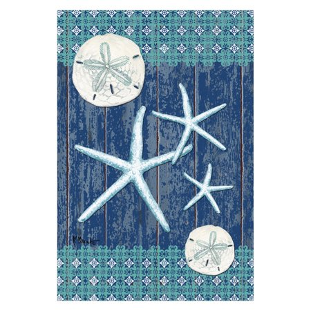 - Toland Home Garden Sand Dollars and Sea Stars Flag