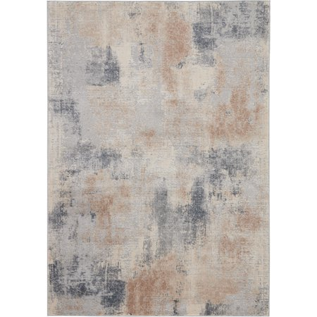 Nourison Rustic Textures Rustic Abstract Beige/Grey Area Rug ()