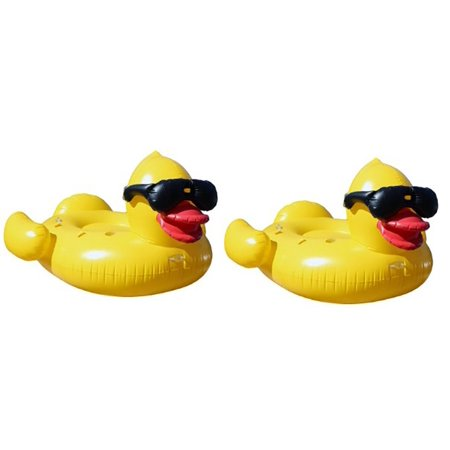 2) GAME Giant Inflatable Floating Riding Derby Duck Pool Float Lounge | 5000