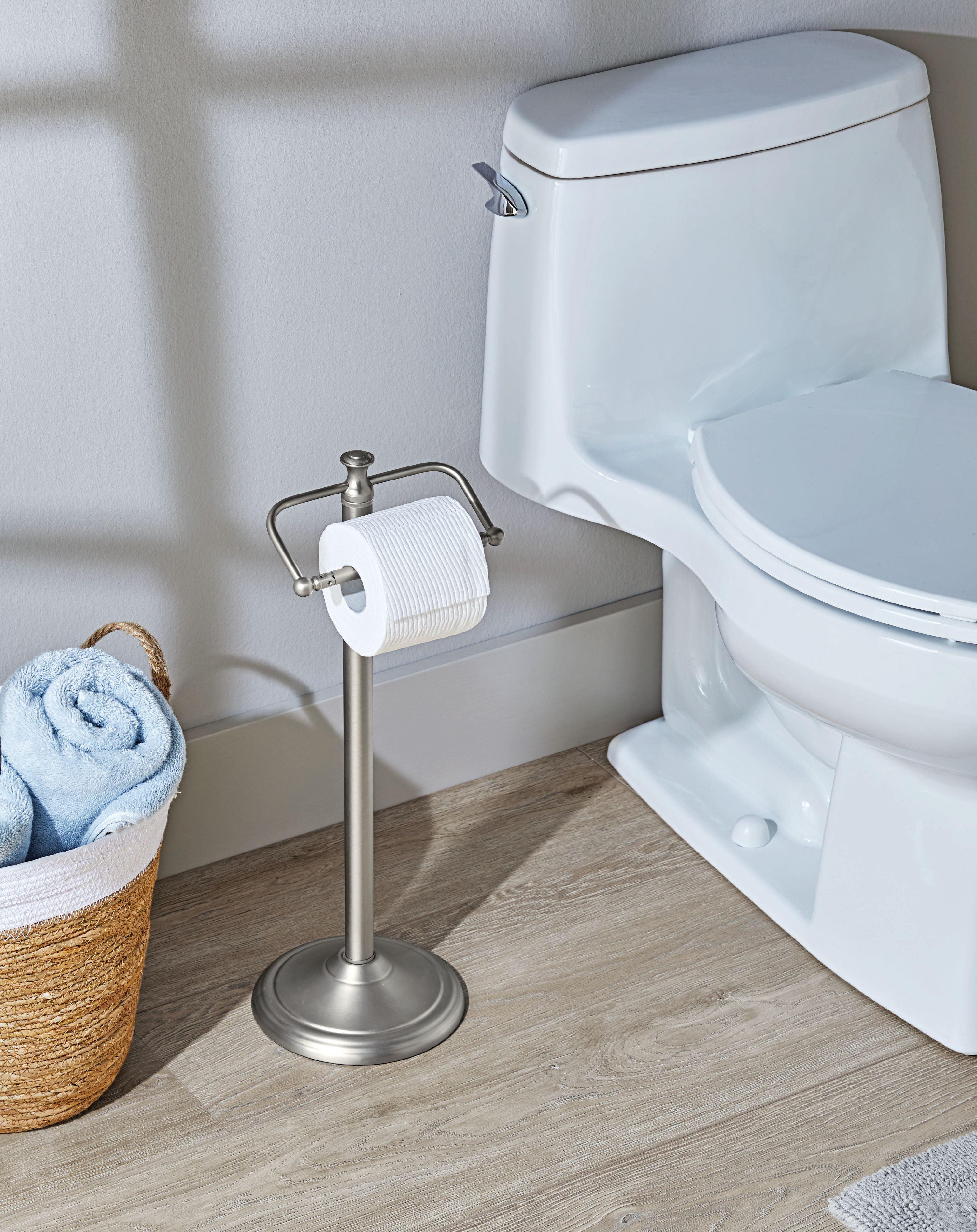 Satin Nickel Standing Toilet Paper