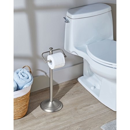 Better Homes & Garden - Satin Nickel Standing Toilet Paper Holder Toilet Roll Holder Stand