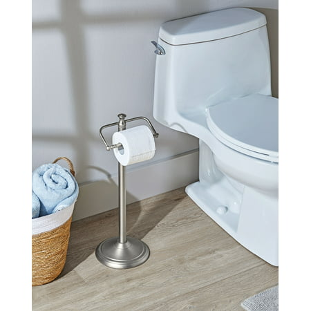 Better Homes & Garden - Satin Nickel Standing Toilet Paper Holder