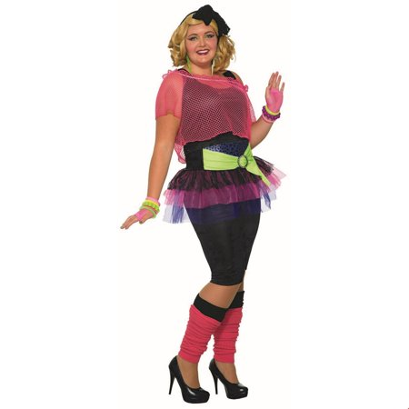 Womens Curvy 80'S Girl Costume](80's Halloween Costume. Blow Up Head)