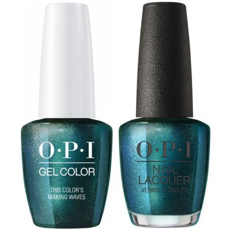 OPI GELCOLOR + MATCHING LACQUER THIS COLOR'S MAKING WAVES #H74 - image 1 de 1
