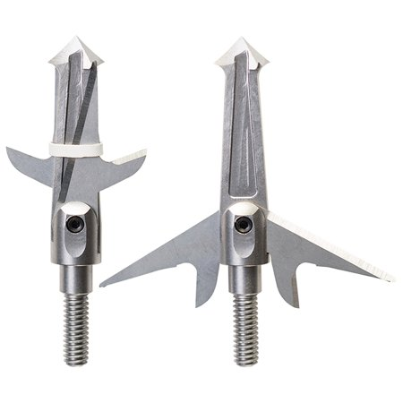 "(Pack of 3) All Steel Crossbow Broadheads by Swhacker, 2-Blade 125 Grain 1.75"" Cut, Includes (1) Practice Head thumbnail"