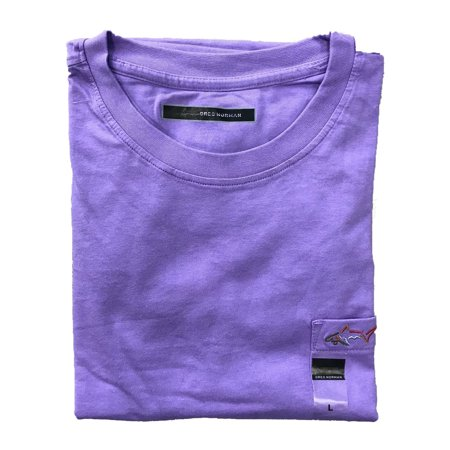Greg Norman Casual T Shirt with Pocket (Large, Lavender)