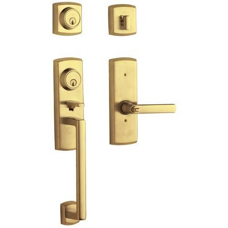 Baldwin Hardware Soho Single - Baldwin  85385.2LH  Keyed Entry  Soho  Handleset  Single Cylinder  ;Lifetime Polished Brass