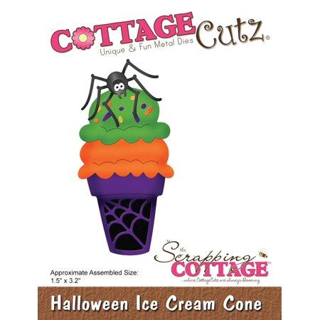 "Cottagecutz Die-Halloween Ice Cream Cone 1.5""X3.2"" - image 1 de 1"