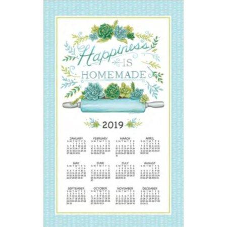 Kayo Designs - 2019 Garden Succulents Towel Calendar, Kitchen Towel by Kay Dee Designs