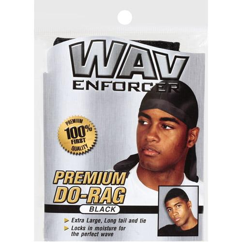 Wavenforcer Premium Do-Rag, Black