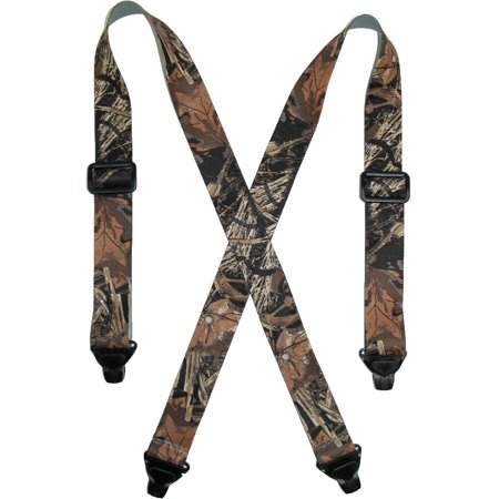 Size Regular Mens Elastic TSA Compliant Camouflage Suspenders (Tall Available), Camouflage ()