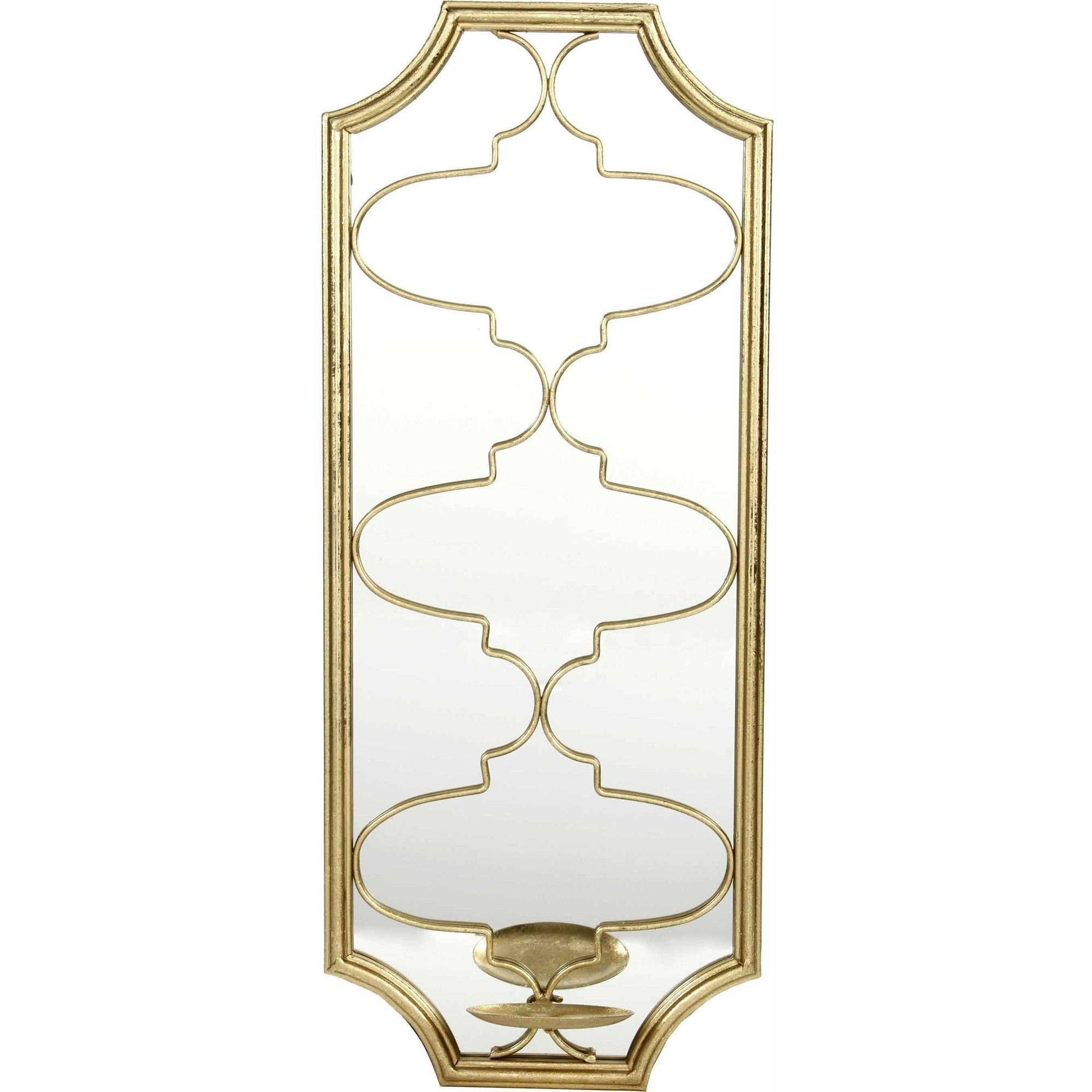 """Mainstays 25""""H Mirrored Quatrefoil Wall Sconce, Gold by HG Global, LLC"""